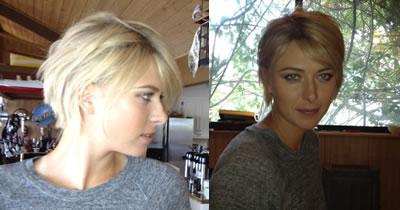 Sharapova on And Now Maria Sharapova Has Introduced A New  Shorter Hairstyle