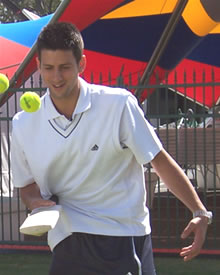 Picture of Novak Djokovic - djokovic-cricket.jpg